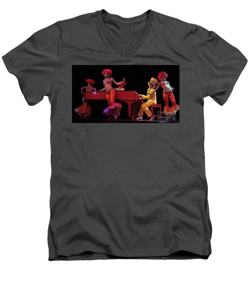 I Love Rock And Roll Music Men's V-Neck T-Shirt by Bob Christopher