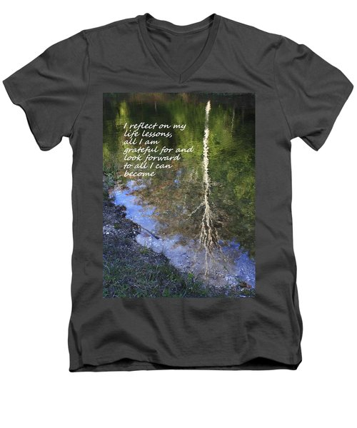 Men's V-Neck T-Shirt featuring the photograph I Reflect by Patrice Zinck