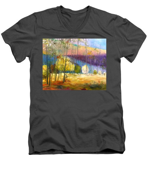 I See A Glow Men's V-Neck T-Shirt by John Williams