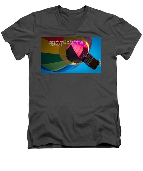 Men's V-Neck T-Shirt featuring the photograph I Surrender And Trust by Patrice Zinck