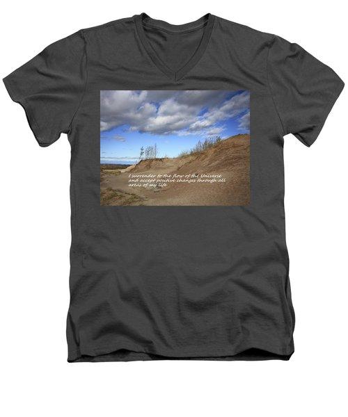 I Surrender To The Flow Of The Universe Men's V-Neck T-Shirt
