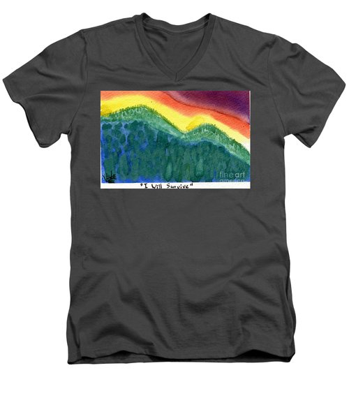 I Will Survive II Men's V-Neck T-Shirt