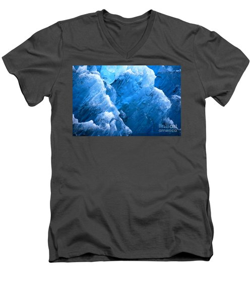 Men's V-Neck T-Shirt featuring the photograph Iceberg Blues by Cynthia Lagoudakis