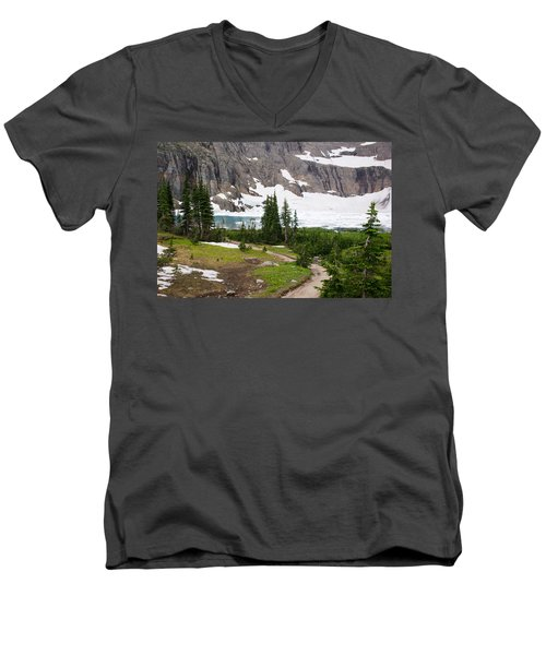 Iceberg Lake Men's V-Neck T-Shirt