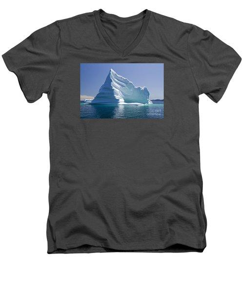 Iceberg Men's V-Neck T-Shirt by Liz Leyden