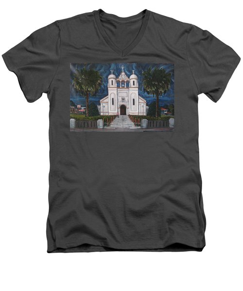 Iglesia Curridabat  Costa Rica Men's V-Neck T-Shirt