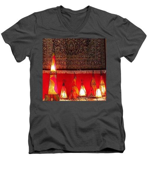 Illuminated Lights Men's V-Neck T-Shirt