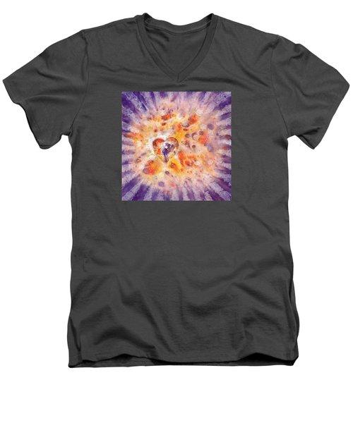 Illumination Men's V-Neck T-Shirt by Lynda Hoffman-Snodgrass