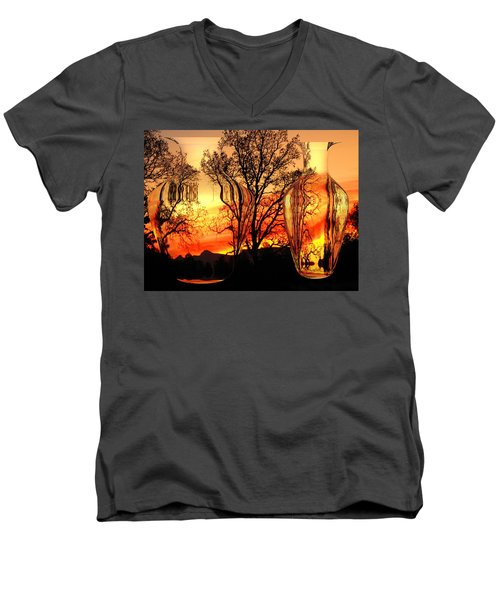 Men's V-Neck T-Shirt featuring the photograph Illusion by Joyce Dickens