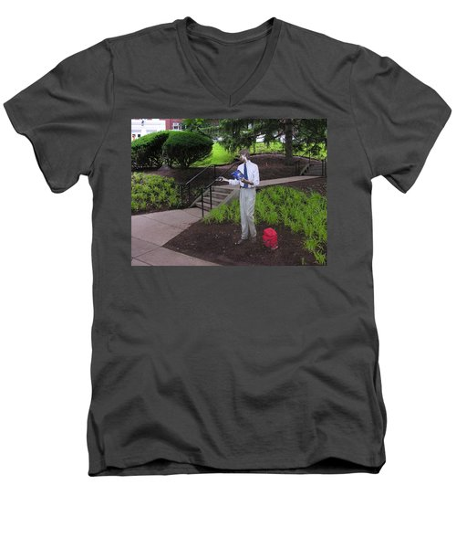Men's V-Neck T-Shirt featuring the photograph I'm Not Real by Jacqueline M Lewis