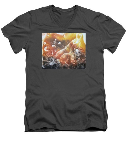 Men's V-Neck T-Shirt featuring the painting Imagination 2 by Vesna Martinjak