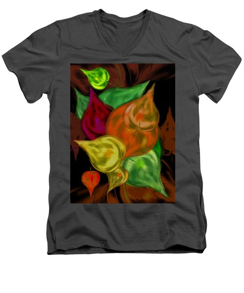 Imagine Leaves Men's V-Neck T-Shirt