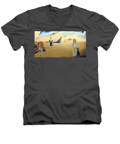 Men's V-Neck T-Shirt featuring the painting Immortality by Ryan Demaree