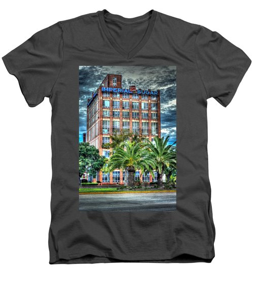 Imperial Sugar Factory Daytime Hdr Men's V-Neck T-Shirt