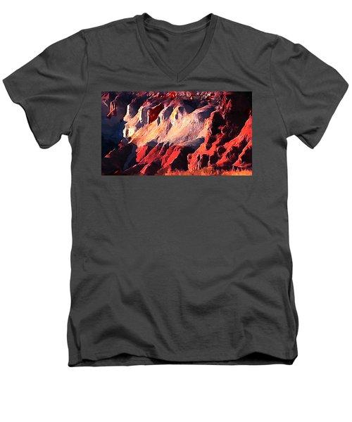 Impression Of Capitol Reef Utah At Sunset Men's V-Neck T-Shirt