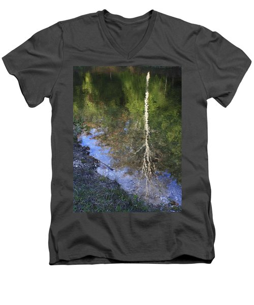 Men's V-Neck T-Shirt featuring the photograph Impressionist Reflections by Patrice Zinck