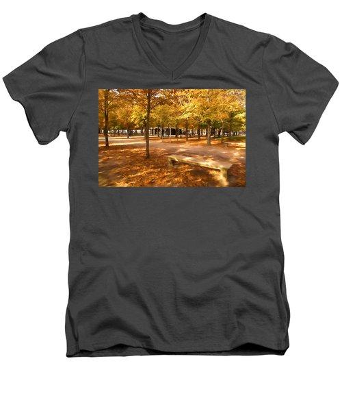 Impressions Of Paris - Tuileries Garden - Come Sit A Spell Men's V-Neck T-Shirt