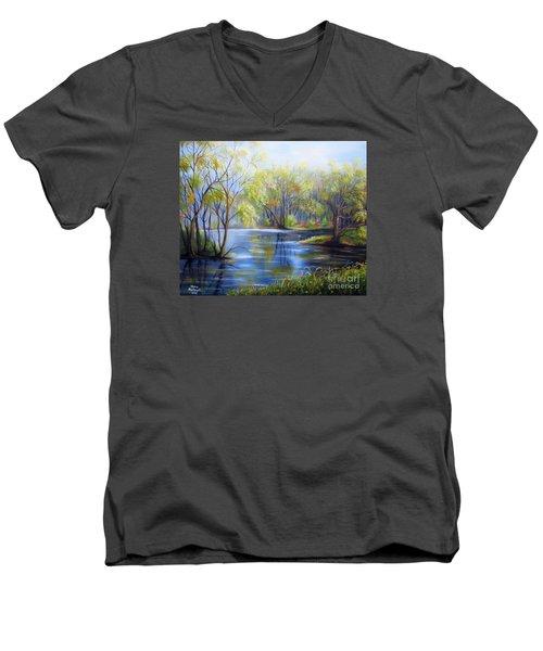 Impressions Of Spring Men's V-Neck T-Shirt