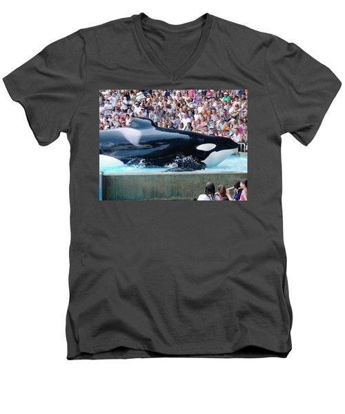 Impressive Men's V-Neck T-Shirt by David Nicholls