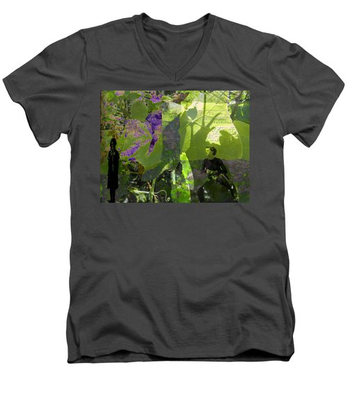 Men's V-Neck T-Shirt featuring the digital art In A Dream by Cathy Anderson