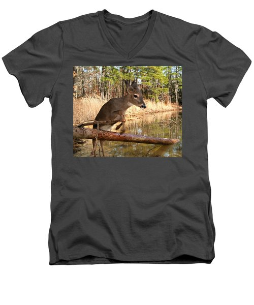 In A Flash Men's V-Neck T-Shirt by Bill Stephens
