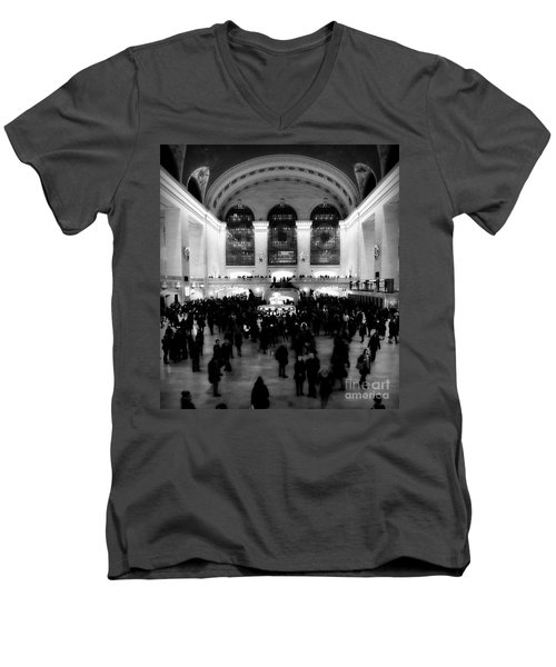 In Awe At Grand Central Men's V-Neck T-Shirt