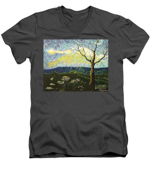 In Between A Rock And A Heaven Place Men's V-Neck T-Shirt