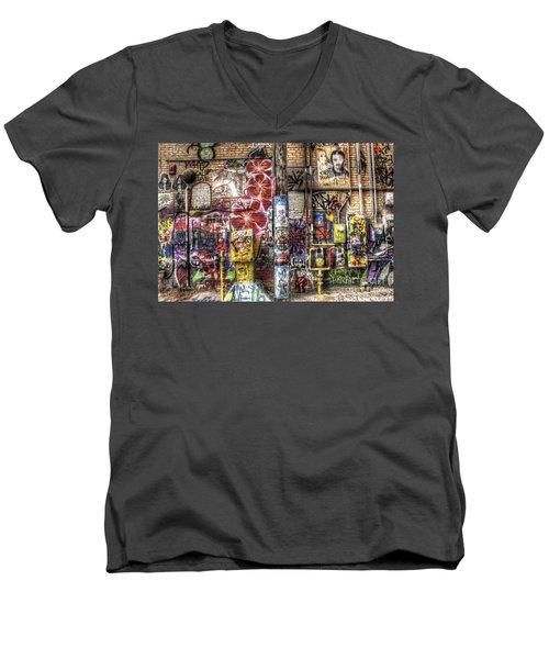 In Between The Lines Men's V-Neck T-Shirt