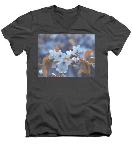 In Blue Men's V-Neck T-Shirt