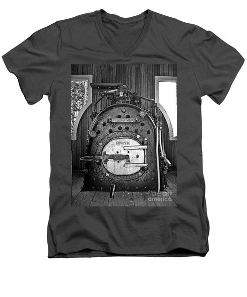 Men's V-Neck T-Shirt featuring the photograph In Control B by Sara  Raber