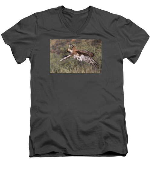 In Flight Meals Men's V-Neck T-Shirt by Venetia Featherstone-Witty