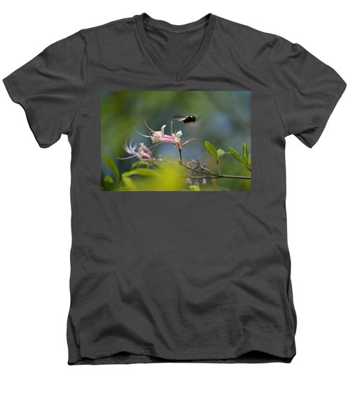 Men's V-Neck T-Shirt featuring the photograph In Flight by Tara Potts
