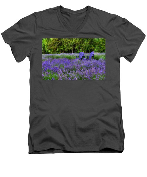 In Lavender Men's V-Neck T-Shirt