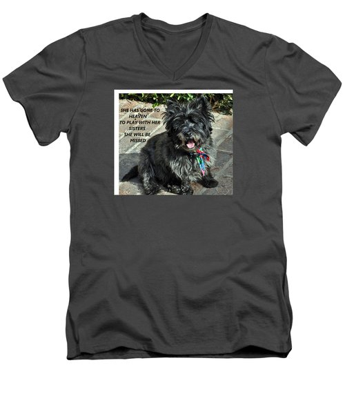 In Memory Of Her Men's V-Neck T-Shirt by Jay Milo