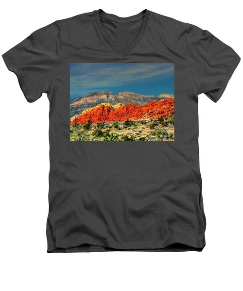 In Red Mountain 1 Men's V-Neck T-Shirt