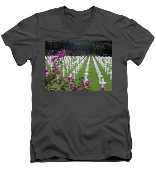 Men's V-Neck T-Shirt featuring the photograph In Rememberance by Lucinda Walter