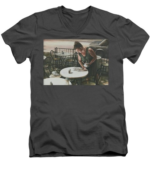 In The Absence Of A Dream Men's V-Neck T-Shirt by Yvonne Wright