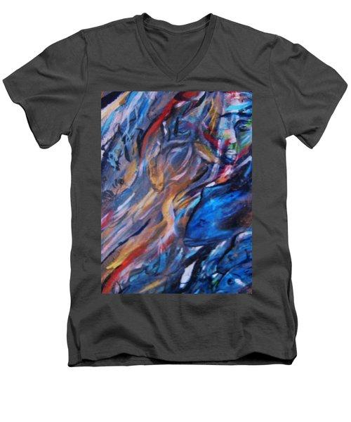 In The Blue Men's V-Neck T-Shirt