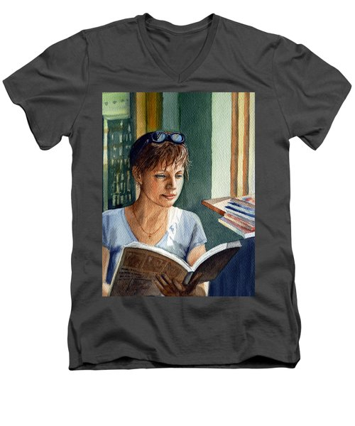 In The Book Store Men's V-Neck T-Shirt