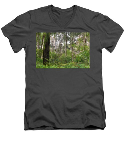 Men's V-Neck T-Shirt featuring the photograph In The Bush by Evelyn Tambour