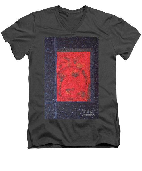 Men's V-Neck T-Shirt featuring the painting In The Night Sky by Mini Arora