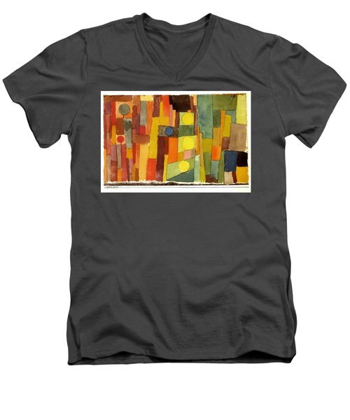 In The Style Of Kairouan Men's V-Neck T-Shirt by Paul Klee