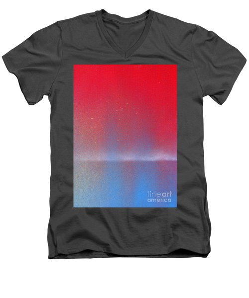 Men's V-Neck T-Shirt featuring the painting In This Twilight by Roz Abellera Art