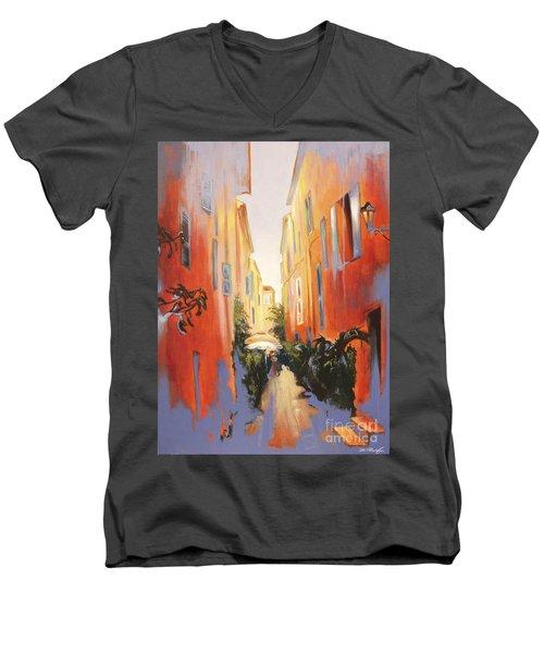 In Town Of Saint Tropez Men's V-Neck T-Shirt