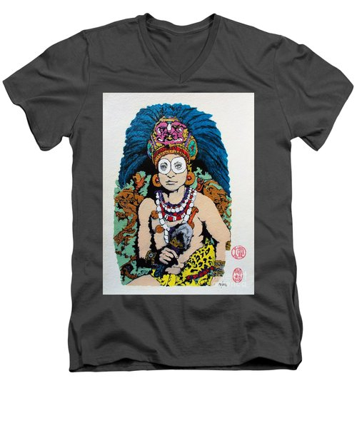 Inca  Royalty Men's V-Neck T-Shirt by Roberto Prusso
