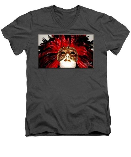 Incognito.. Men's V-Neck T-Shirt by Jolanta Anna Karolska