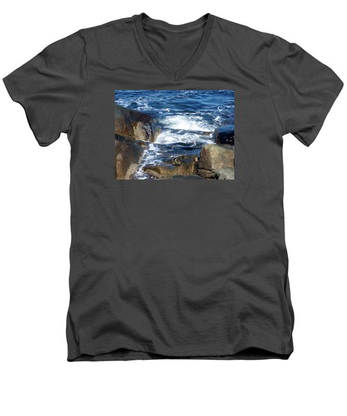 Incoming Tide Men's V-Neck T-Shirt by Catherine Gagne
