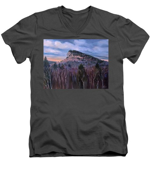 Indian Head In Lincoln New Hampshire Men's V-Neck T-Shirt