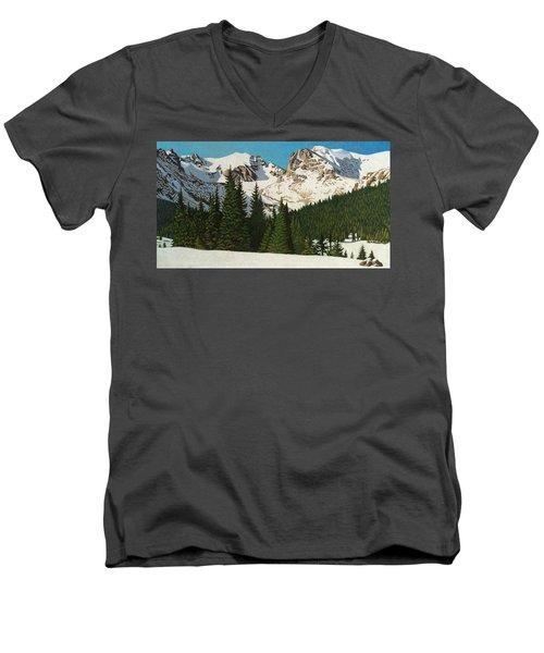 Indian Peaks Winter Men's V-Neck T-Shirt