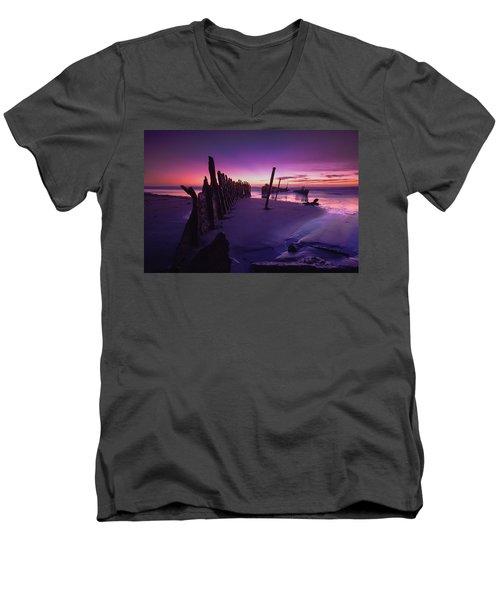 Indigo Dawn Men's V-Neck T-Shirt